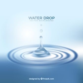 Fondo de gotas de agua en estilo realista