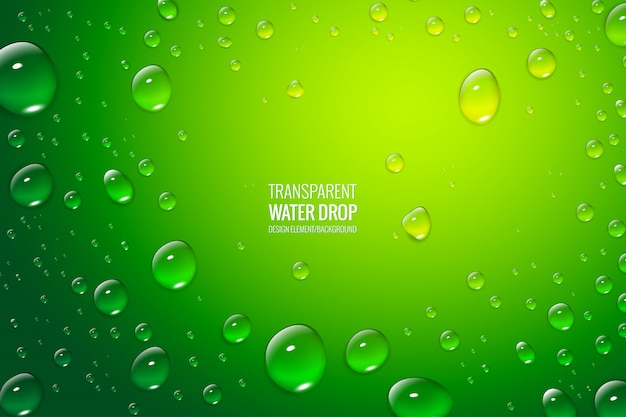Fondo de gotas de agua realista totalmente editable