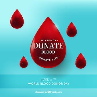 Fondo de gotas de sangre
