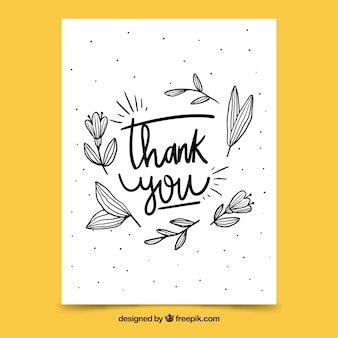 Fondo de gracias con lettering negro