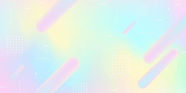 Fondo de gradiente de arco iris pastel abstracto concepto de ecología para su gráfico,