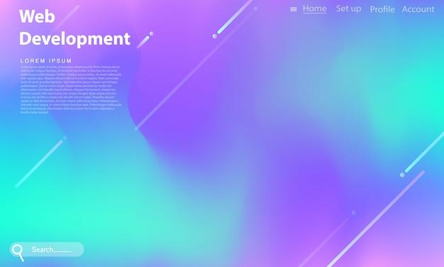 Fondo de gradiente de arco iris pastel abstracto concepto de ecología para su web de diseño gráfico