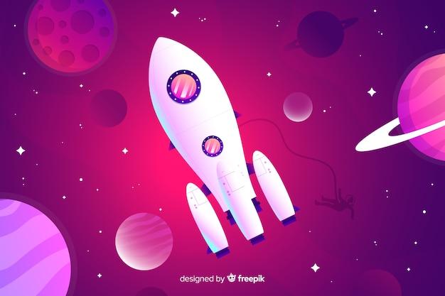 Fondo gradiente de cohete