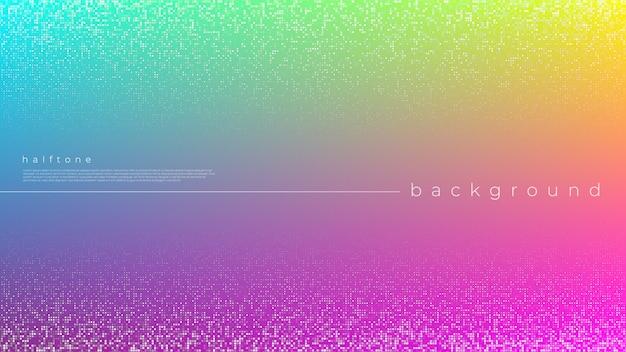 Fondo con gradiente colorido semitono pop art
