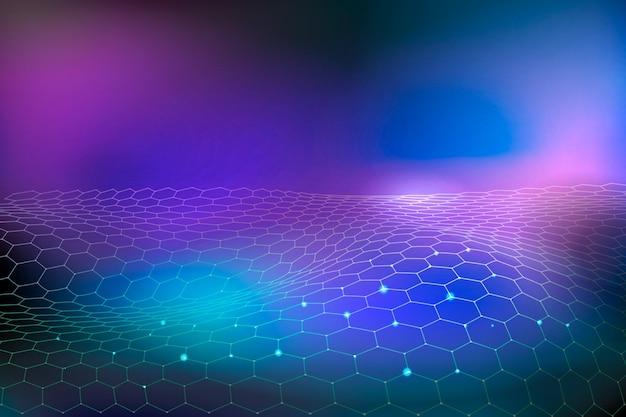 Fondo de gradiente de concepto de tecnología futurista
