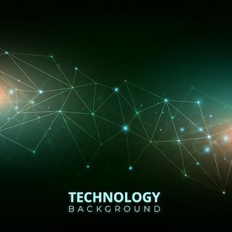 Fondo gradiente de tecnología