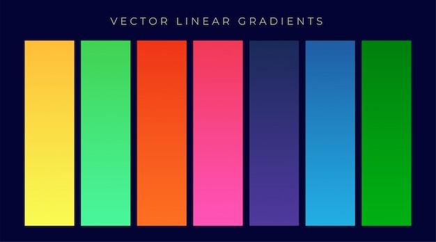 Fondo de gradientes de color brillante moderno conjunto