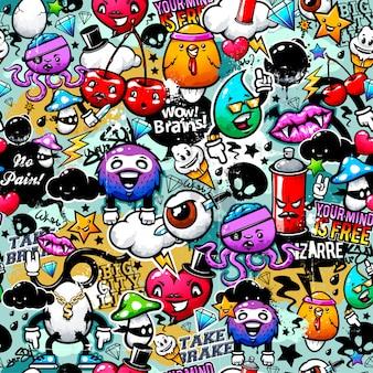 Fondo de graffiti colorido
