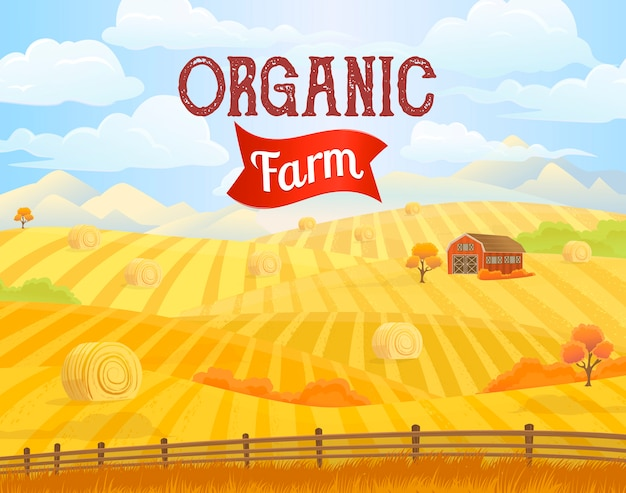 Fondo de granja orgánica