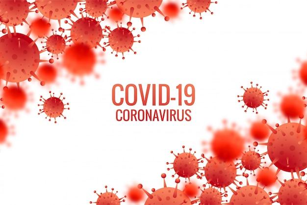 Fondo de gripe de infección por bacterias o coronavirus