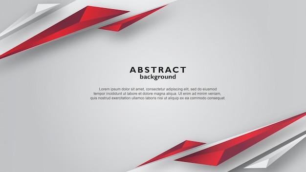 Fondo gris abstracto con formas de triángulo rojo