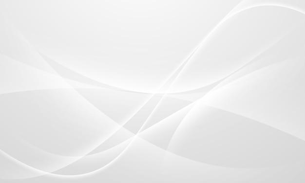 Fondo gris abstracto con ondas dinámicas. red de tecnología.