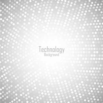 Fondo gris claro circular abstracto. patrón de píxeles de círculo digital de tecnología.