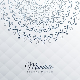 Fondo gris con decoración de mandala