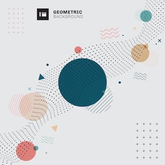 Fondo gris geométrico abstracto de memphis.