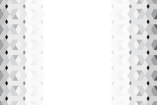Fondo gris patrón hexagonal 3d
