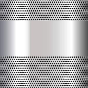 Fondo gris perforado
