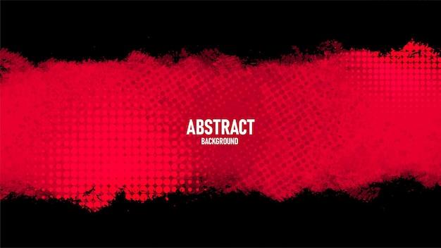 Fondo grunge abstracto negro y rojo con estilo de semitono