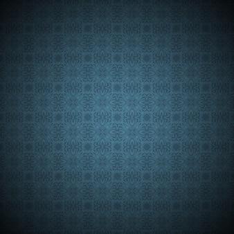 Fondo de grunge azul oscuro en cuadrados de adornos de estilo vintage y hermosos elementos