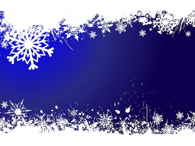 Fondo grunge copo de nieve