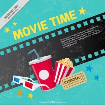 Fondo grunge de elementos de cine