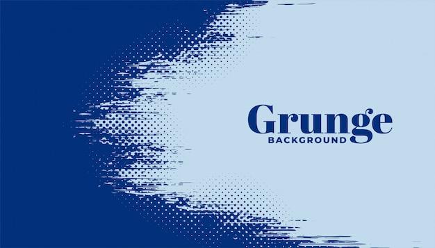 Fondo de grunge de semitono abstracto en color azul