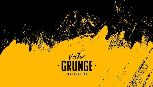 Fondo de grunge sucio abstracto negro y amarillo