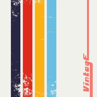 Fondo grunge vintage con rayas de color