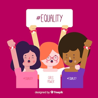 Fondo grupo interracial de mujeres