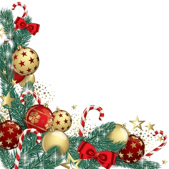 Fondo de guirnalda de navidad