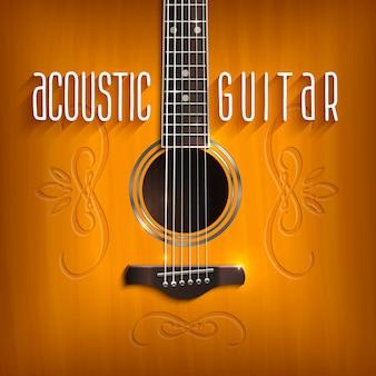 Fondo de guitarra acústica