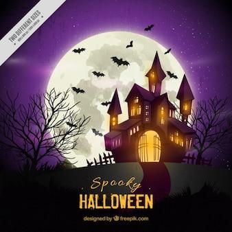 Fondo de halloween de casa encantada