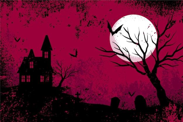 Fondo de halloween de diseño grunge