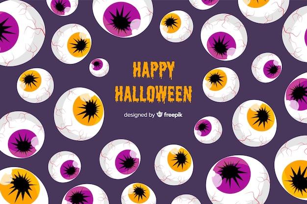 Fondo de halloween en diseño plano
