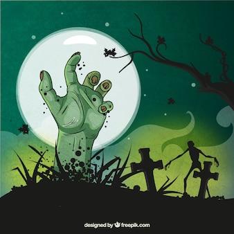 Fondo de halloween escalofriante