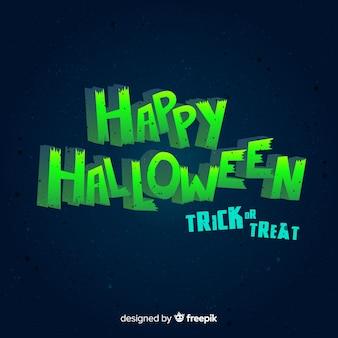 Fondo de halloween con lettering