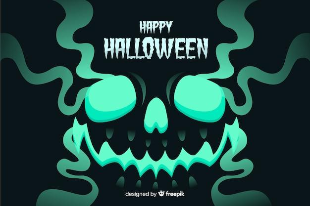 Fondo de halloween de miedo con diseño plano
