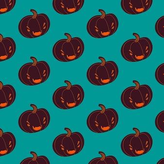 Fondo de halloween oscuro con patrón de gato
