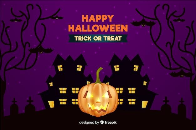 Fondo de halloween realista de miedo