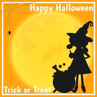 Fondo de halloween con texto de feliz halloween.