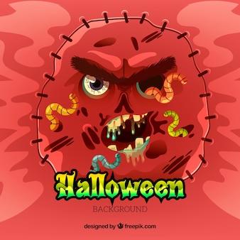 Fondo de halloween con zombi