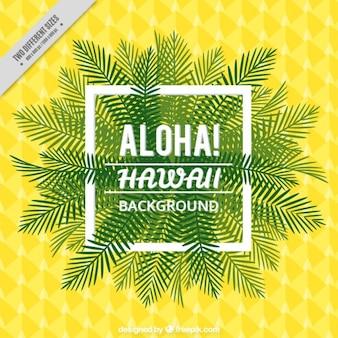 Fondo de hawai amarillo y verde