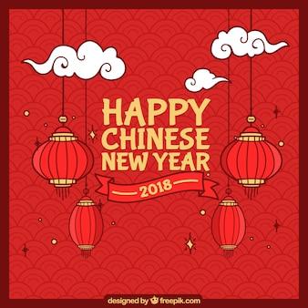 Fondo hecho a mano de año nuevo chino