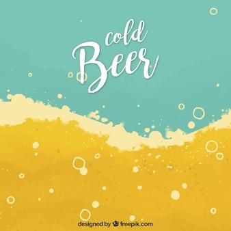 Fondo hecho a mano de cerveza