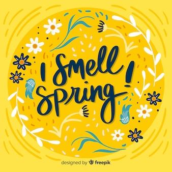 Fondo de hello spring