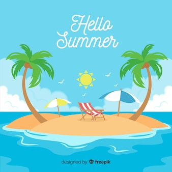 Fondo de hello summer background