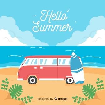 Fondo de hello summer background