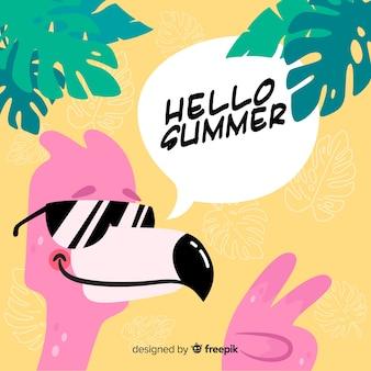 Fondo de hello summer