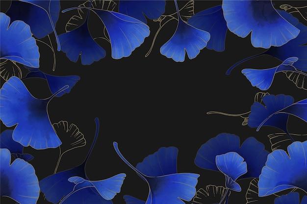 Fondo de hermosas flores azules
