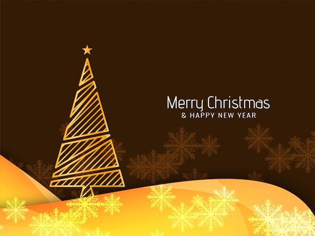 Fondo hermoso abstracto de la feliz navidad con el árbol